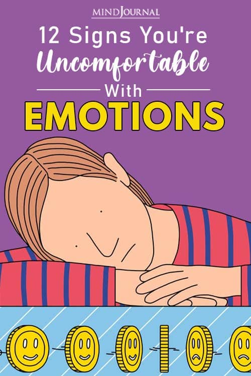 Signs You're Uncomfortable With Emotions pin one