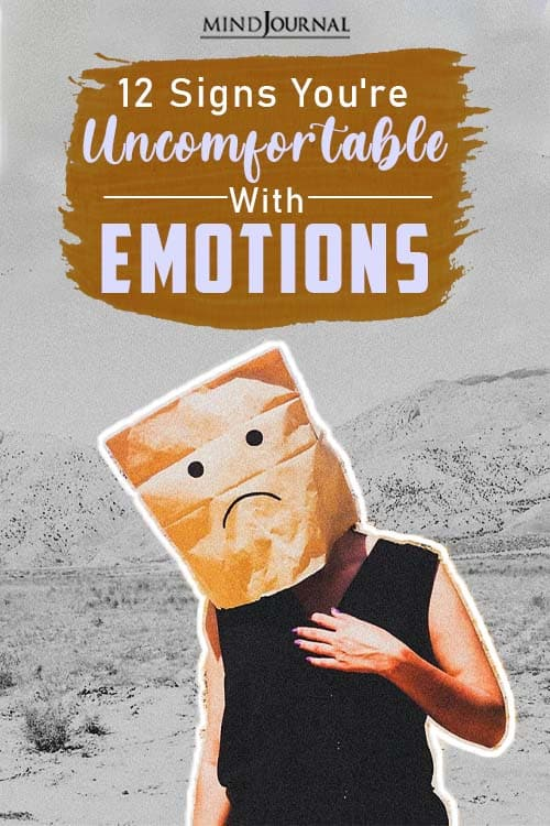 Signs You're Uncomfortable With Emotions pin