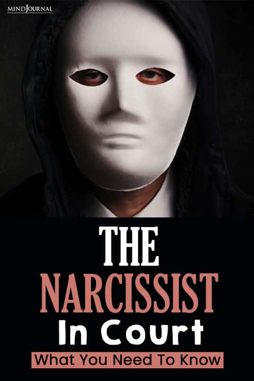 The Narcissist In Court pin