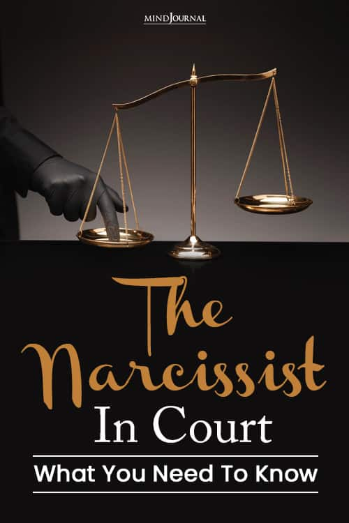 The Narcissist In Court you need to know pin