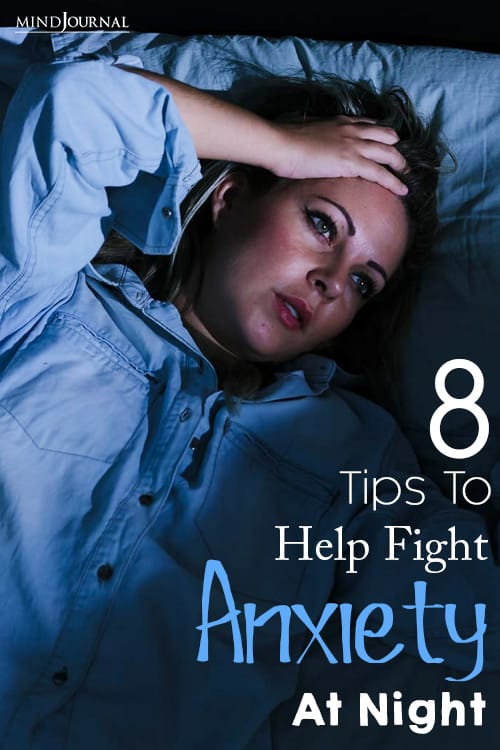 Tips To Help Fight Anxiety At Night pin