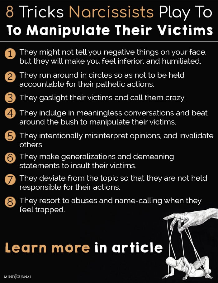 Tricks Narcissists Play To Manipulate Their Victims info