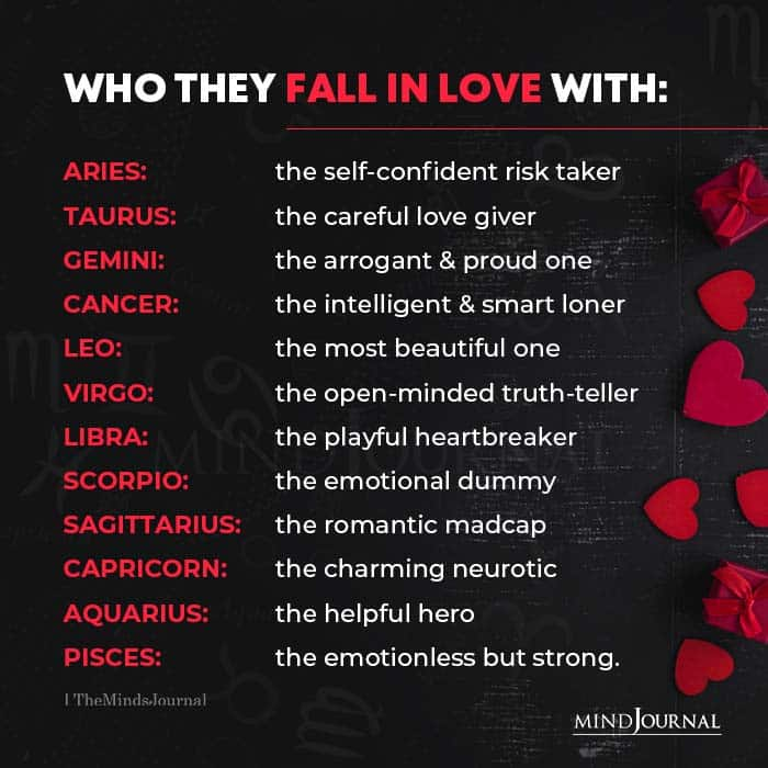 Who the Zodiac Signs Fall in Love With
