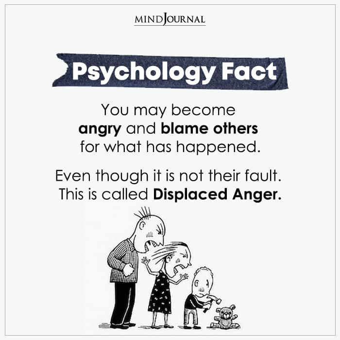You May Become Angry And Blame Others
