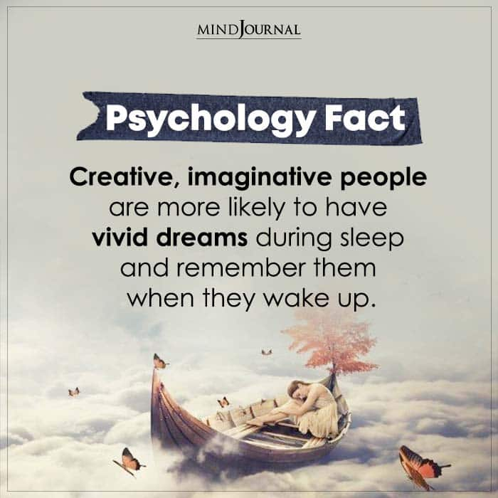 creative imaginative people are more likely to have vivid dreams