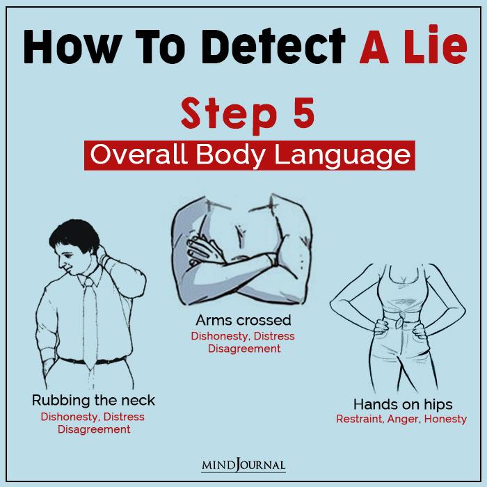 detect a lie body lang