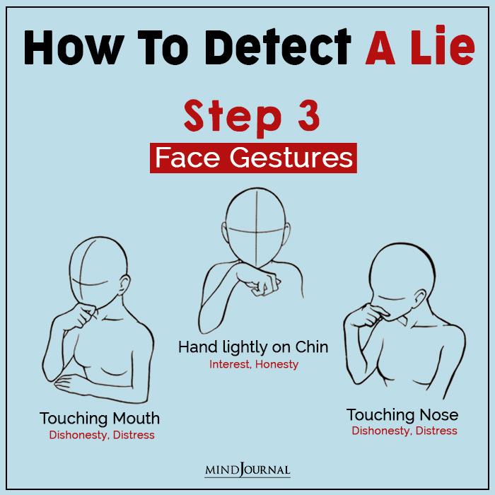 detect a lie face gestures