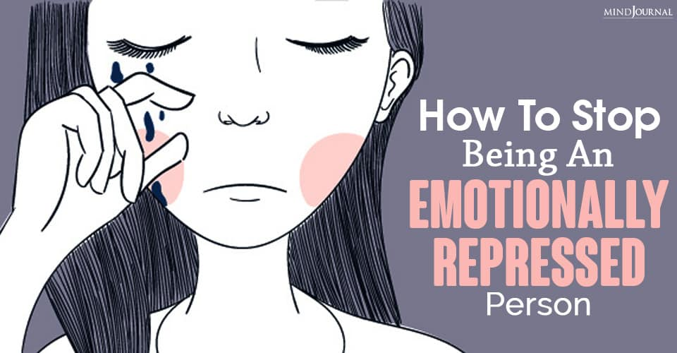 emotionally repressed person crying therapy