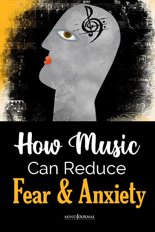 music reduce fear and anxiety pin