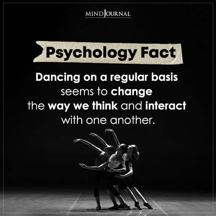 Dancing On A Regular Basis Seems To Change