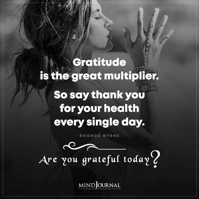 Gratitude Is The Great Multiplier So Say Thank You