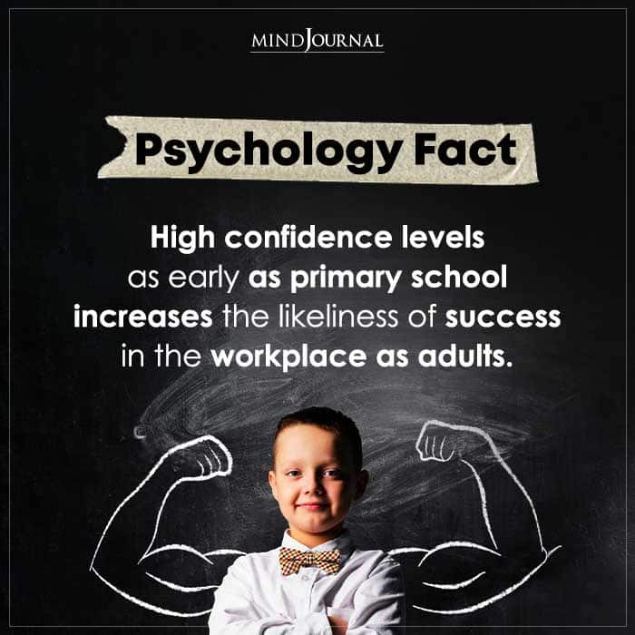High Confidence Levels As Early As Primary School Increases