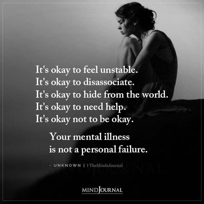 Its Okay to Feel Unstable