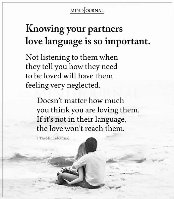 Knowing Your Partners Love Language Is So Important
