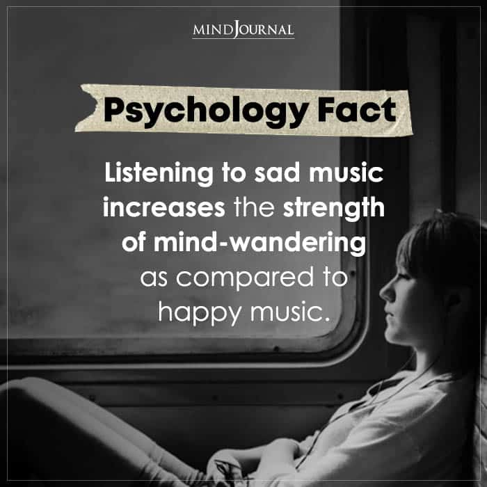 Listening To Sad Music Increases The Strength Of Mind wandering
