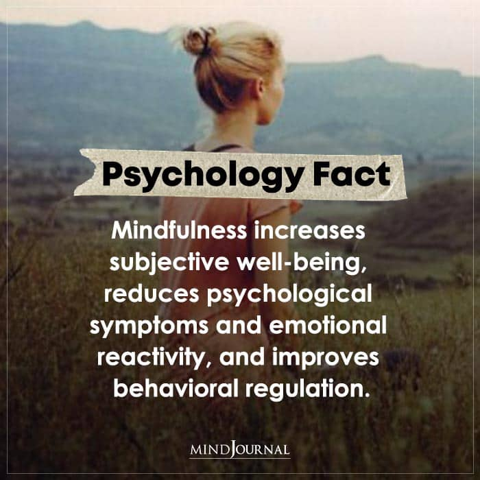 Mindfulness Increases Subjective Well being