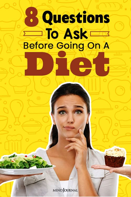 Questions To Ask Before Going On A Diet pin