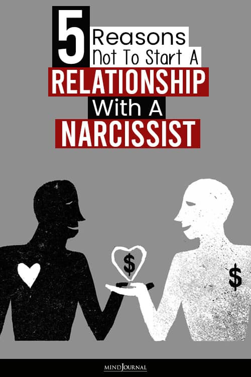Reasons Not To Start A Relationship With A Narcissist pin