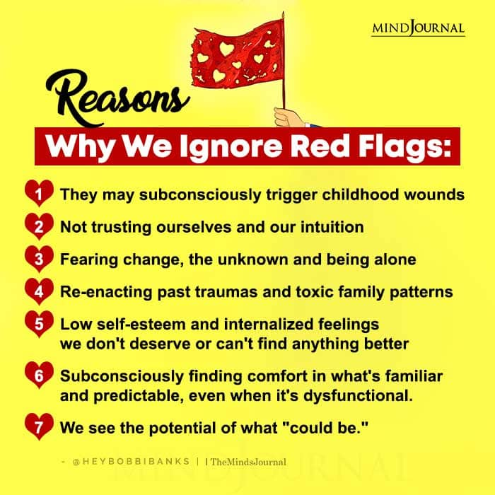 Reasons Why We Ignore Red Flags