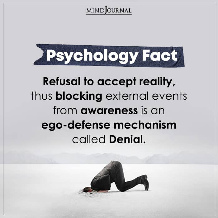 Refusal To Accept Reality Thus Blocking External Events