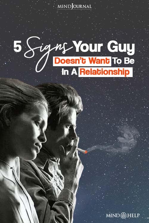 Signs Your Guy Doesnot Want to be in a relationship Pin