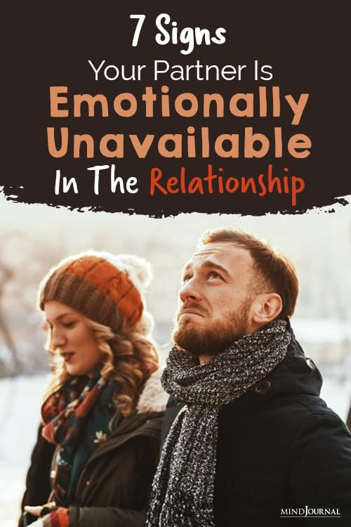 Signs Your Partner Is Emotionally Unavailable pin