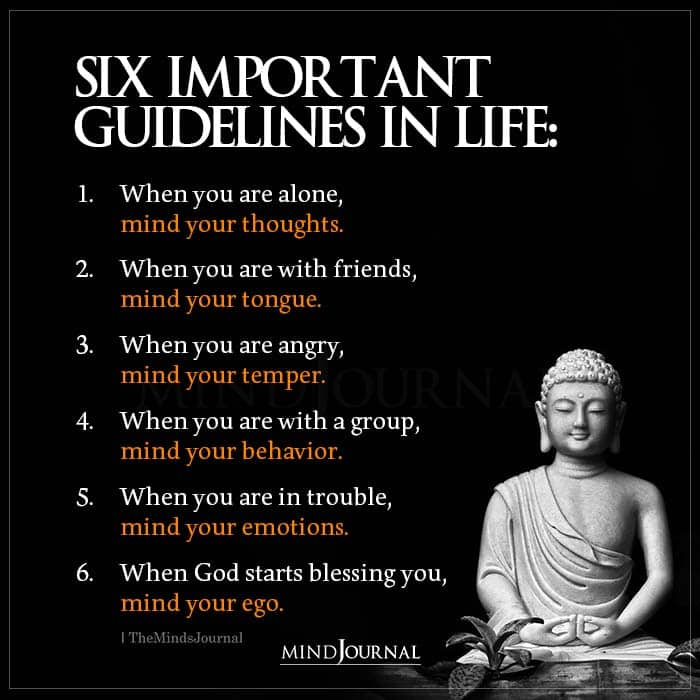 Six Important Guidelines In Life When You Are Alone