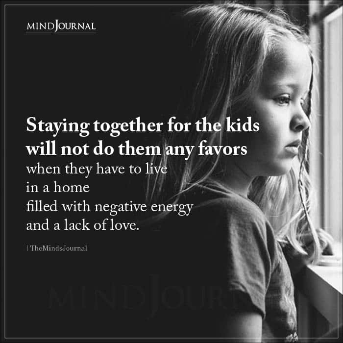 Staying together for the kids