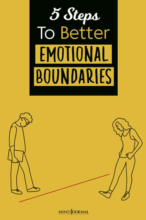 Steps To Better Emotional Boundaries pin