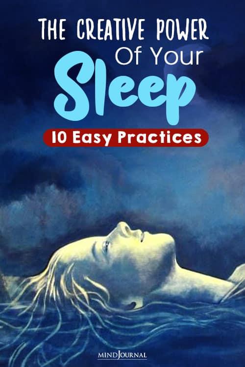 The Creative Power Of Your Sleep pin