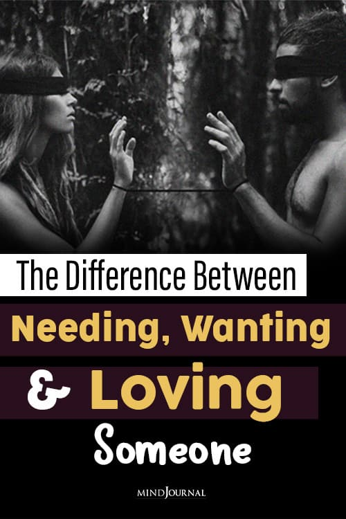 The Difference Between Needing, Wanting pin