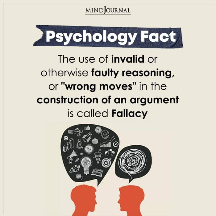The Use Of Invalid Or Otherwise Faulty Reasoning