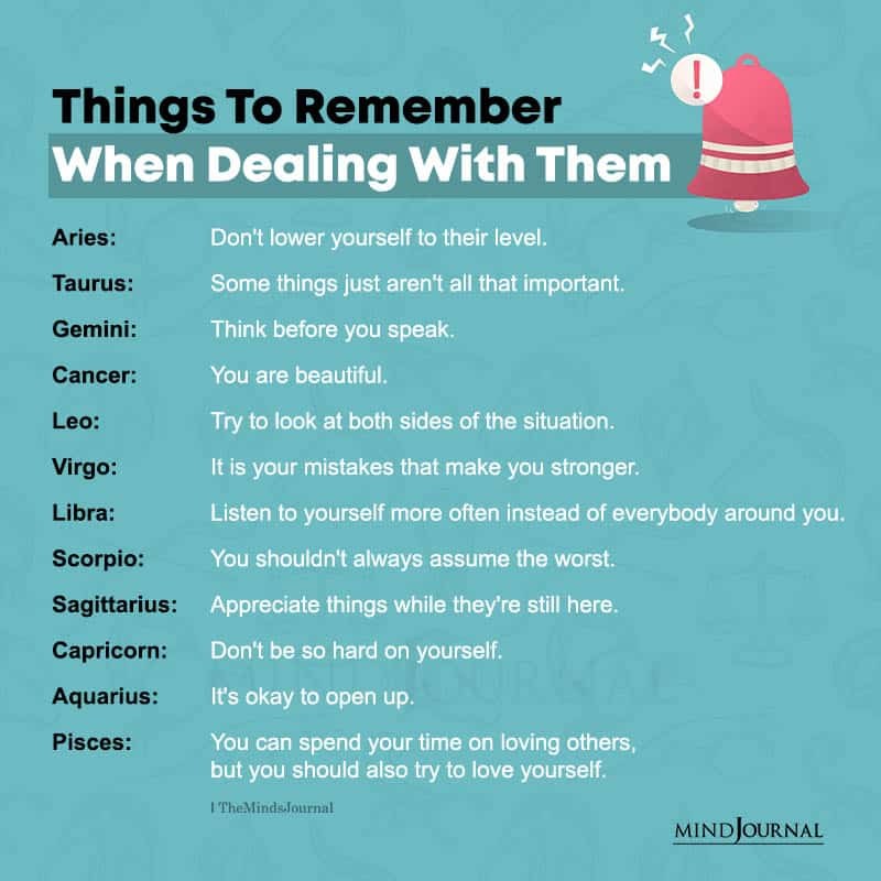 Things Each Zodiac Sign Should Remember