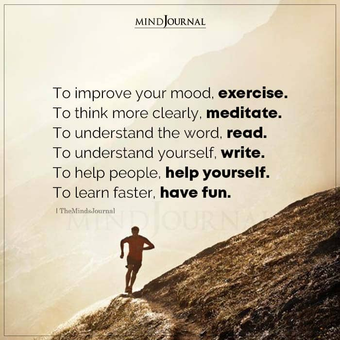 To Improve Your Mood Exercise To Think More Clearly