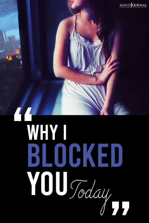 Why I Blocked You Today pin