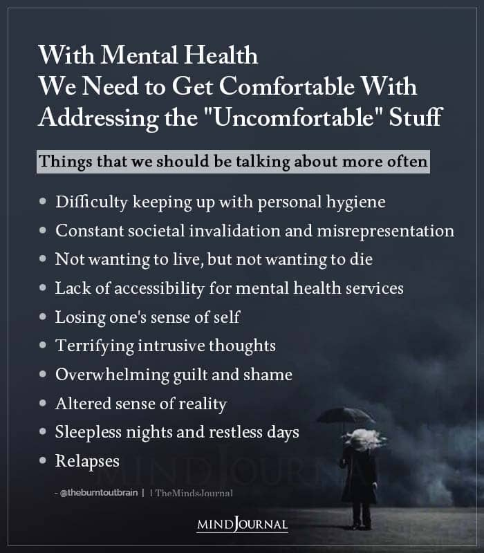 With Mental Health We Need to Get Comfortable