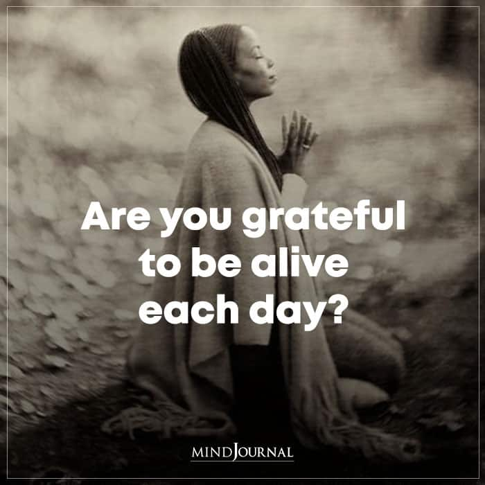 are you grateful to be alive each day