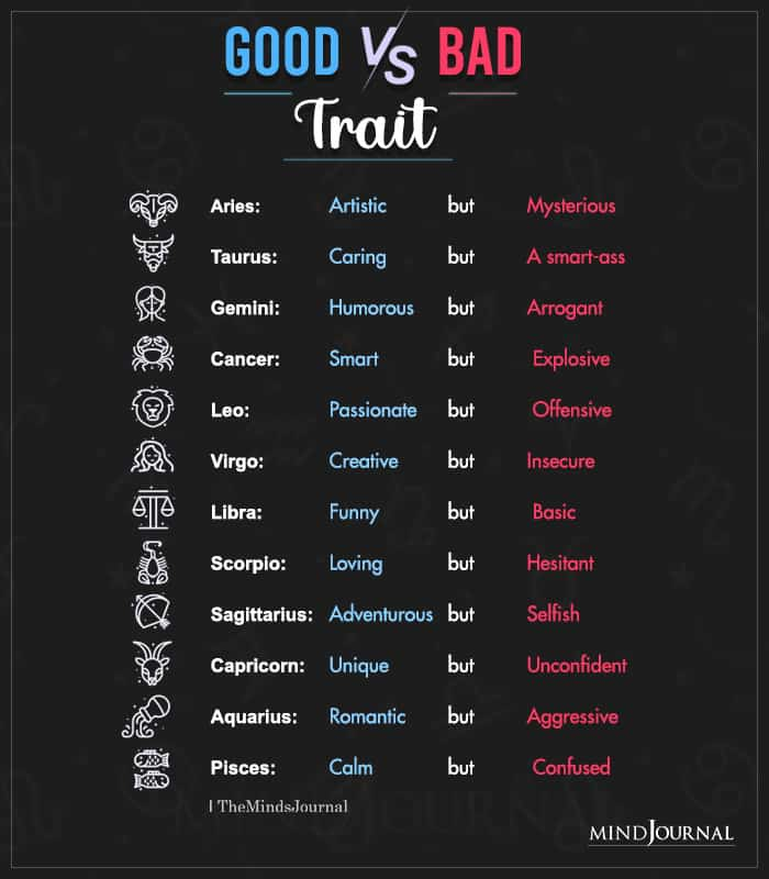 good vs bad thing about the zodiac signs