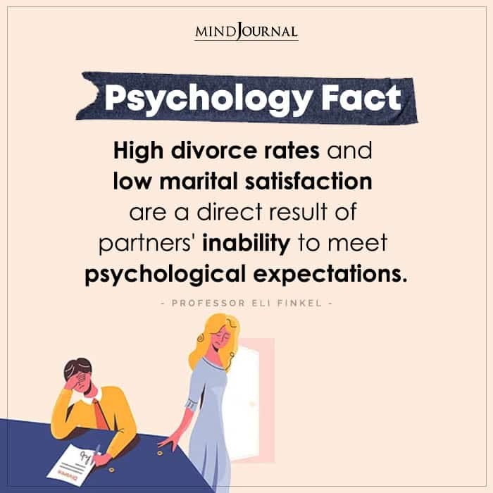 high divorce rates and low marital satisfaction
