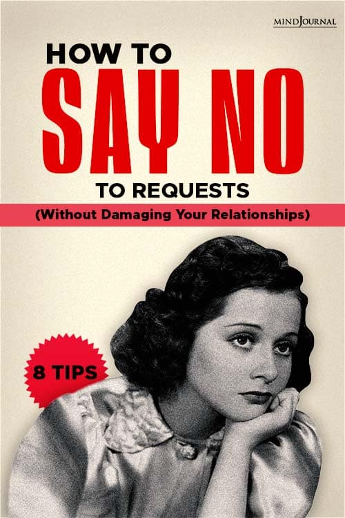 how to say no to requests without damaging relationships pin