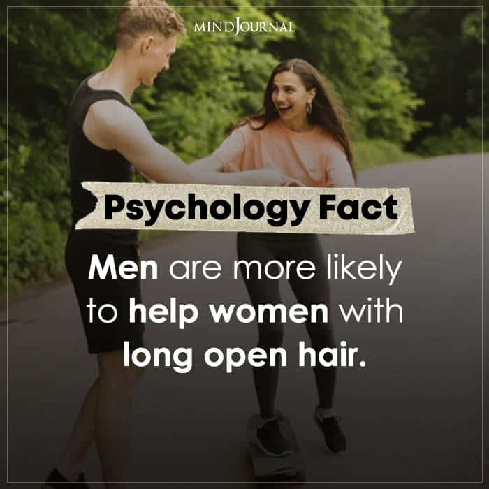 men are more likely to help women with