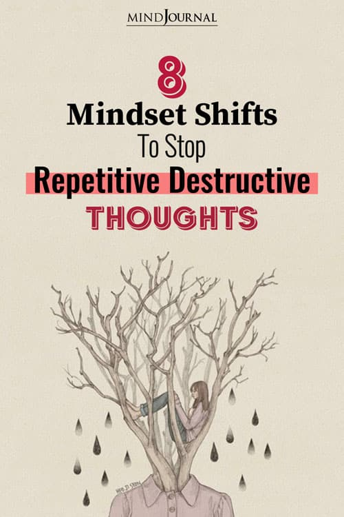 mindset shifts to stop repetitive destructive thoughts pin