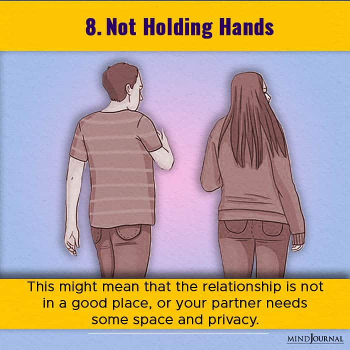 not holding hands