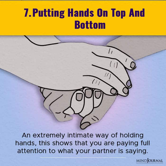 putting hands on top and bottom