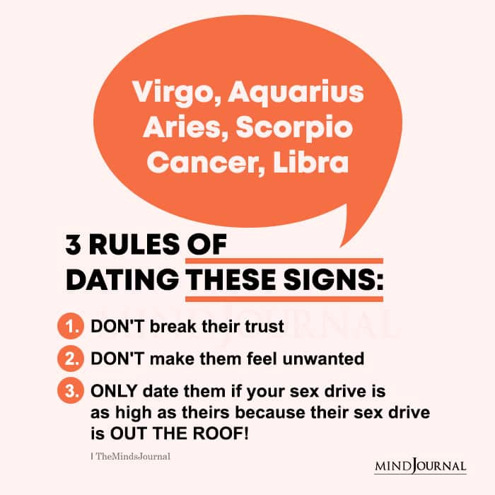rules of dating these zodiac signs