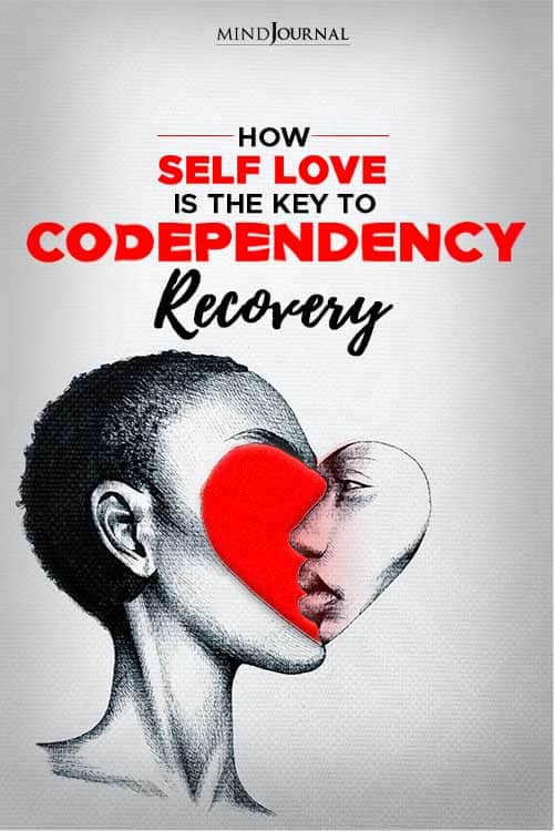 self love is the key to codependency pin