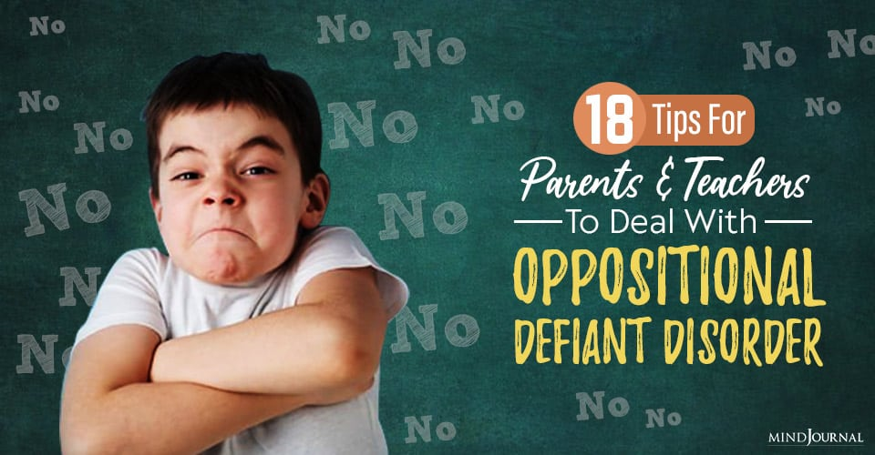 signs of symptoms of oppositional defiant disorder