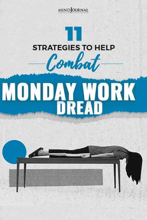 strategies to help combat monday work dread pin