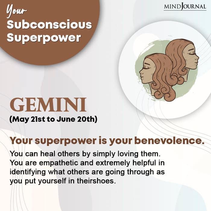 subconscious superpower Gemini
