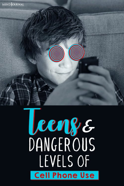 teens and dangerous levels of cell phone use pin